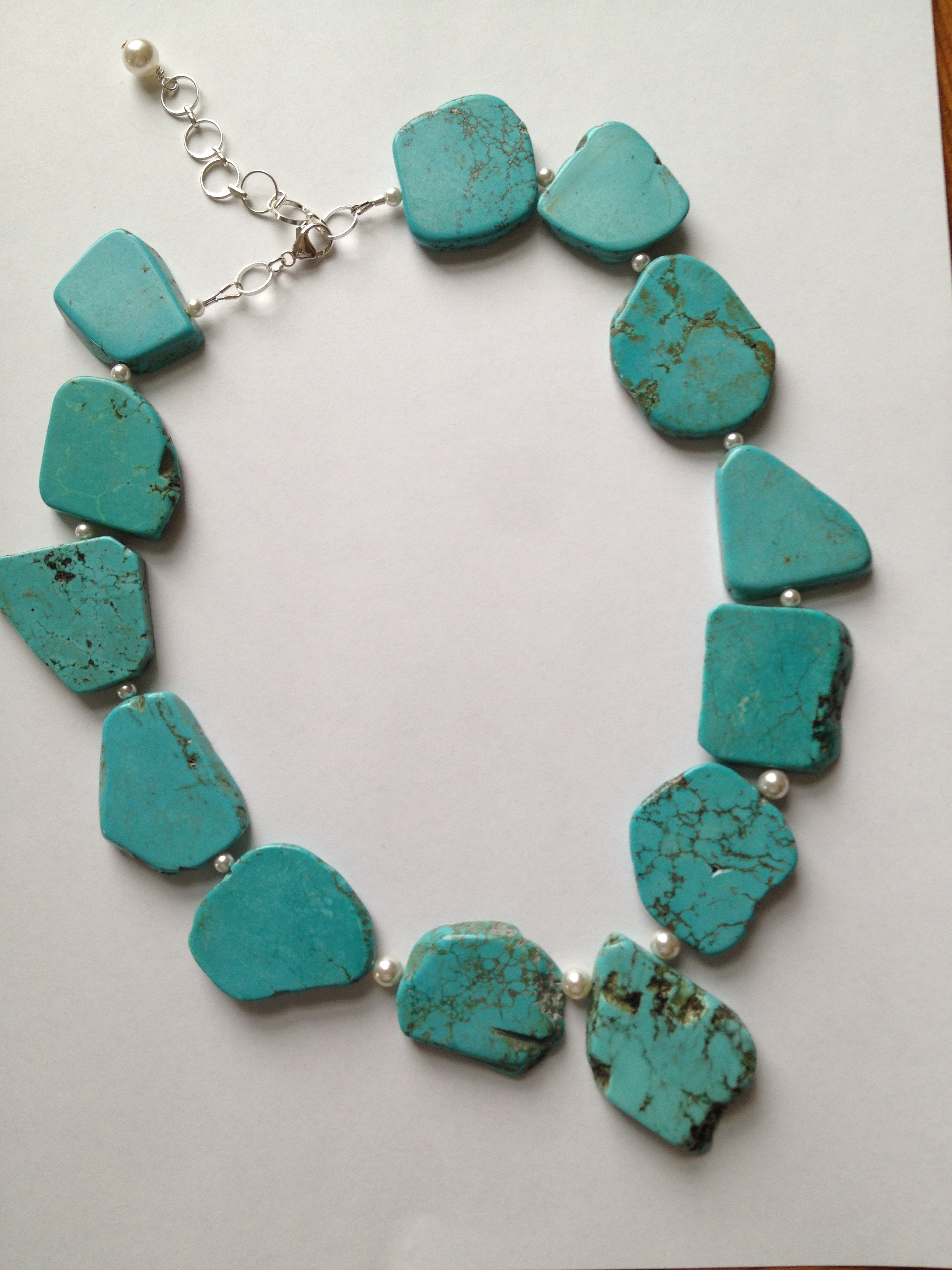 chunky turquoise necklace wem designs